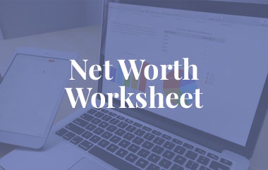 Net Worth Worksheet